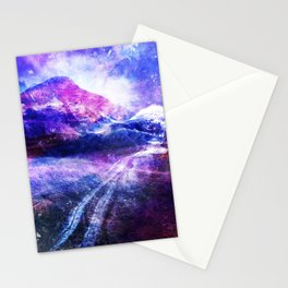 Abstract Mountain Landscape Stationery Cards
