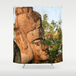 Zen Buddha Sleeping Shower Curtain
