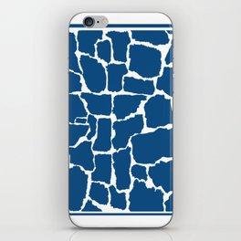Classic Blue Giraffe iPhone Skin