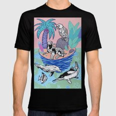 Tropical Island Black MEDIUM Mens Fitted Tee