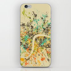 LONDON MAP iPhone & iPod Skin