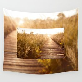 boardwalk and morass grass Wall Tapestry
