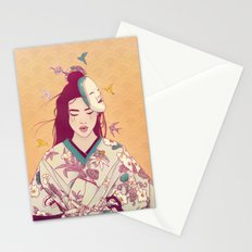 Origami Lady Stationery Cards