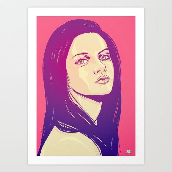 Mila Kunis Art Print