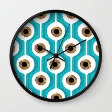 Eye Pod Turquoise Wall Clock