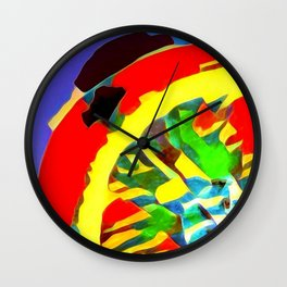 Summer Collection Bright Orange Wall Clock