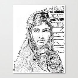 Words of Malala Canvas Print