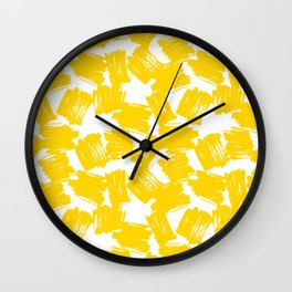 It was all Yellow Wall Clock