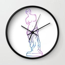 Antique Venus de Milo line art Wall Clock