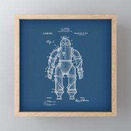 Submarine Armor Patent Blueprint 1915 Framed Mini Art Print