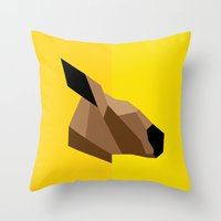 kangaroo Throw Pillows featuring Kangaroo by BMaw