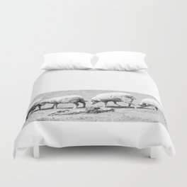 counting sheep Duvet Cover