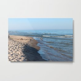 Sand Castle by the Lake Metal Print