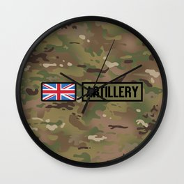 British Flag: Artillery (Camo) Wall Clock