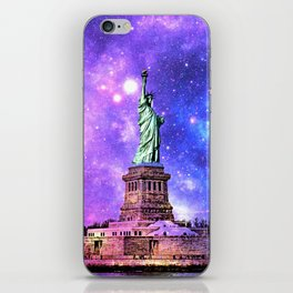 space Statue of Liberty iPhone Skin