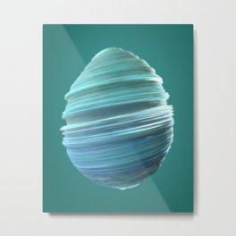 Whisked Egg Metal Print