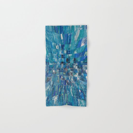 Abstract blue pattern 5 Hand & Bath Towel