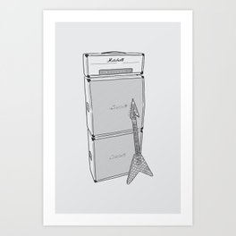 Randy's Guitar Rig Art Print