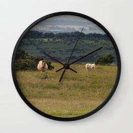 Wild Ponys in Cornwall Wall Clock