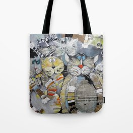Cat Gang Tote Bag