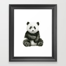 Panda Baby Watercolor Animal Art Framed Art Print