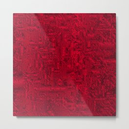 Red Abstract Board Background Metal Print