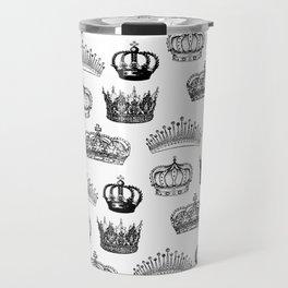 Royal Crown Print Travel Mug