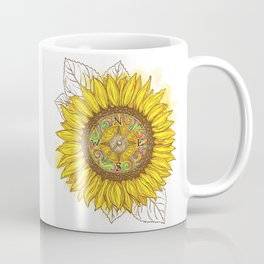 Sunflower Compass Coffee Mug