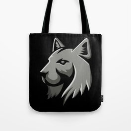 Bobcat Head Metallic Icon Tote Bag
