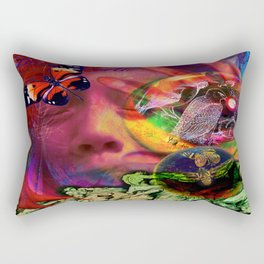Blue Earth Uprooted Rectangular Pillow