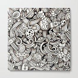 Doodle Metal Print