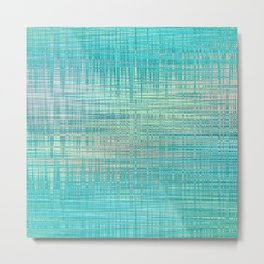Abstract Blue Pastel Metal Print