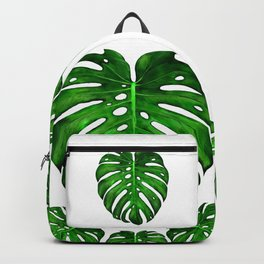 Monstera Leaf Paintings Backpack