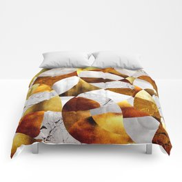 Curves - Silver and Gold Comforters