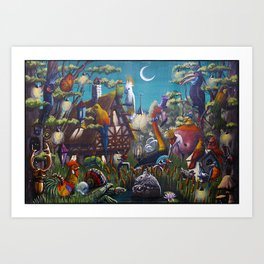 Magical Swamps Art Print