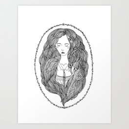 The Goose Girl Art Print
