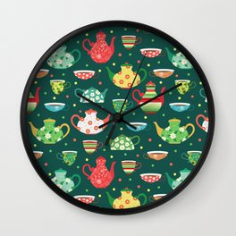 Tea pattern Wall Clock