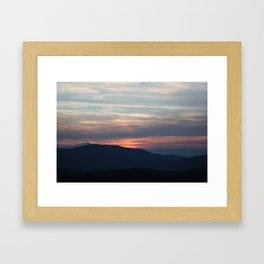 Kosovo Dusk Framed Art Print