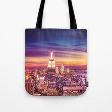 New York City Dusk Sunset Tote Bag