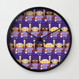 Baseball Purple - Super cute sports stars Wall Clock