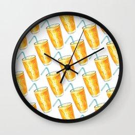 Orange Juice Pattern Wall Clock