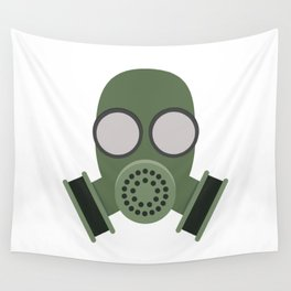 Army Gasmask Wall Tapestry