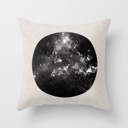 God's Window - Black And White Space Painting Throw Pillow