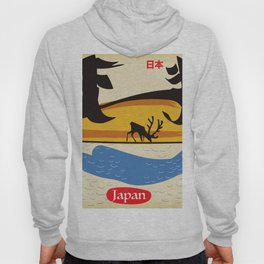 Japan vintage  travel poster. Hoody