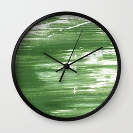 Fern green abstract watercolor Wall Clock