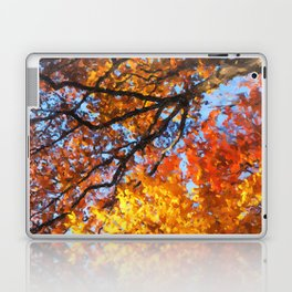 Autumnal colors in forest Laptop & iPad Skin