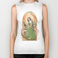 art nouveau Biker Tanks featuring art nouveau by Thierry