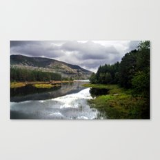lakeside in norway. Canvas Print