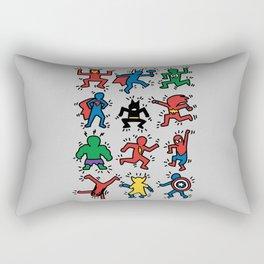 Keith Superheroes Rectangular Pillow