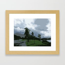 Clouds and Trees Framed Art Print